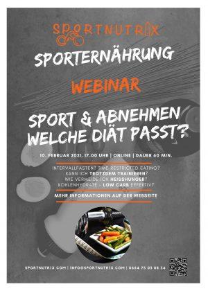 Webinar Diäten im Sport