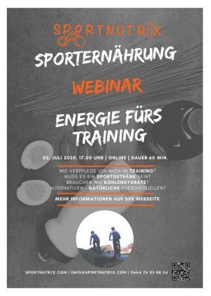 Webinar Trainingsverpflegung Juli