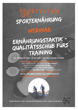 Webinar Trainingsverpflegung